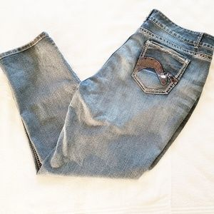 Plus Size Sequence Denim Jeans - 22